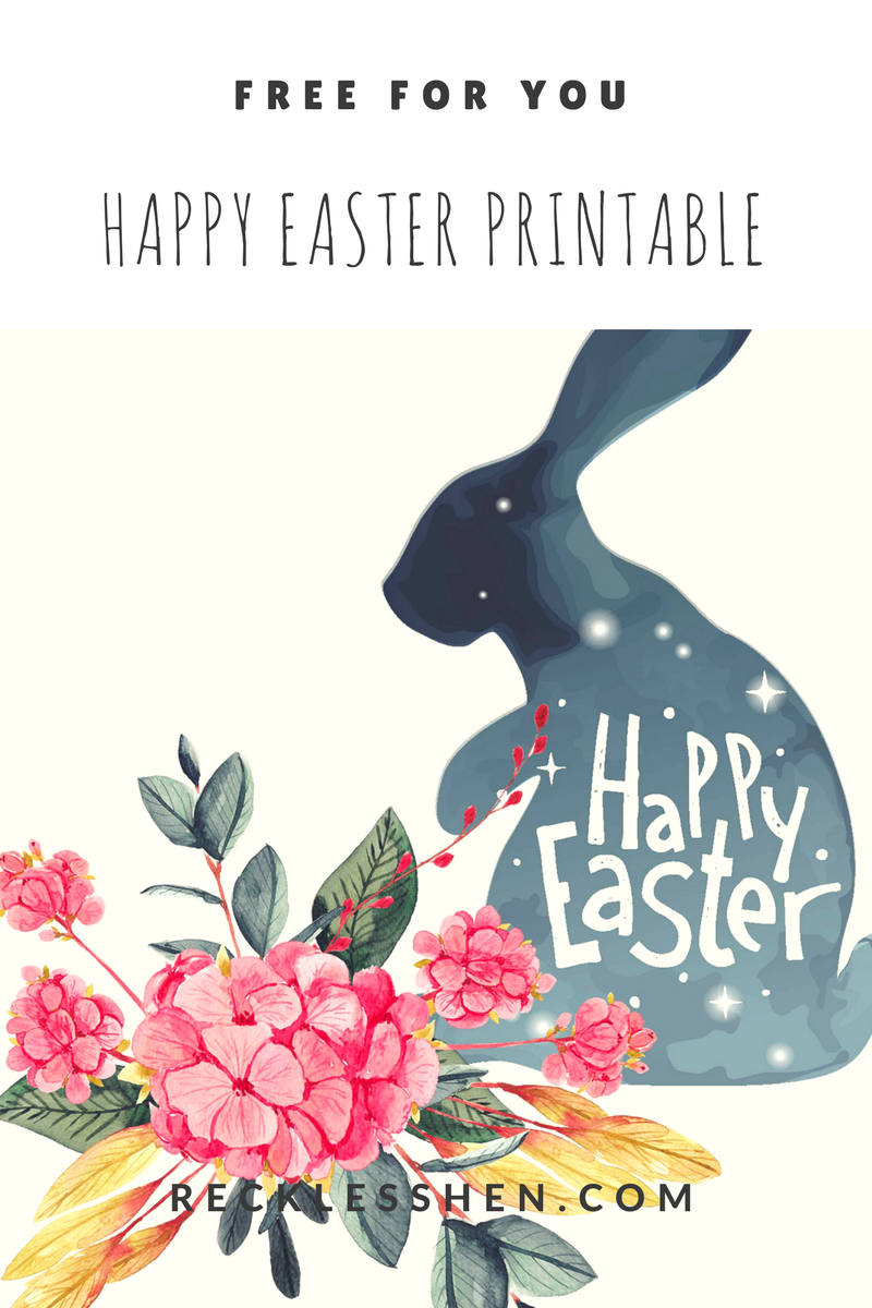 Free Easter printable from RecklessHen