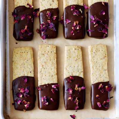Rose & Dark Chocolate Shortbread from Waitrose